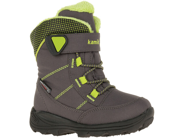 Kamik Stance Boots Kids, charcoal/lime
